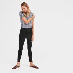 Everlane High Rise Skinny Black Jeans sz 27